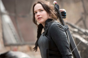 Katniss in Mockingjay for NYTimes