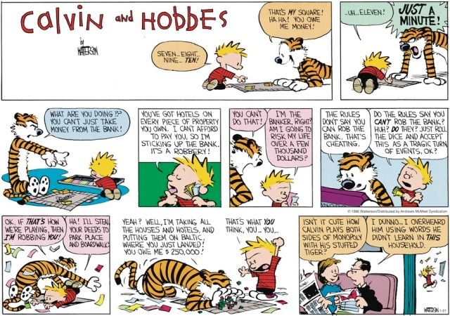 Calvin and Monopoly