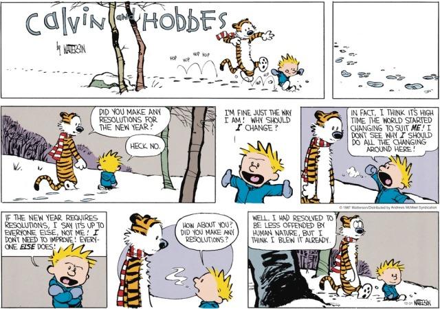Calvin's New Year