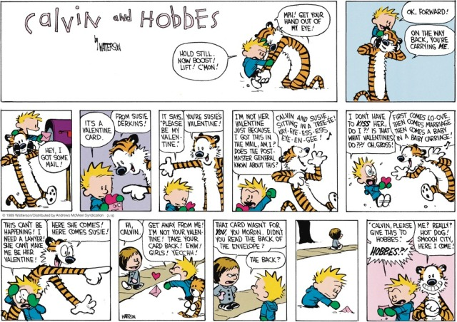 Calvin and Valentine's Day