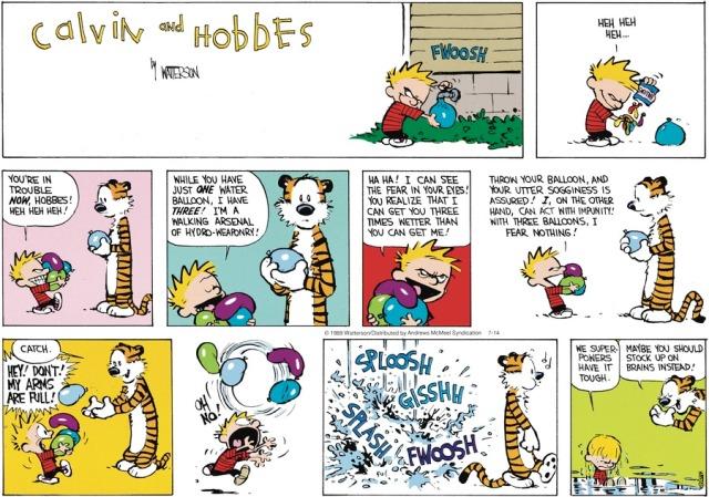 Calvin's Water Balloons