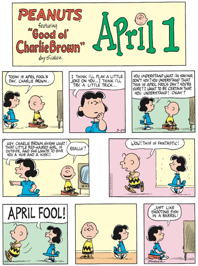 Peanuts April 1