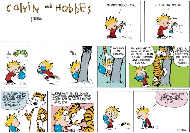 Calvin Hypothetical Question