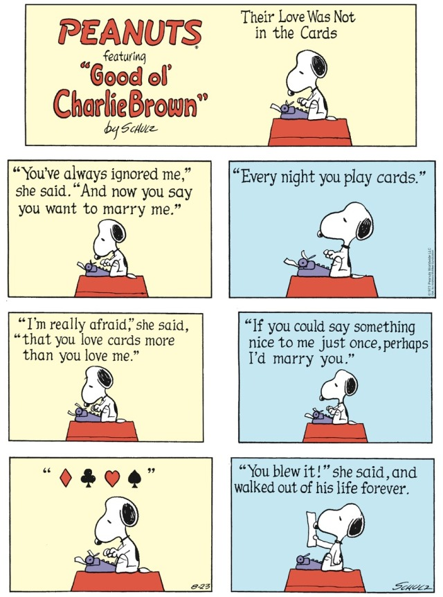 Peanuts Play on Cards