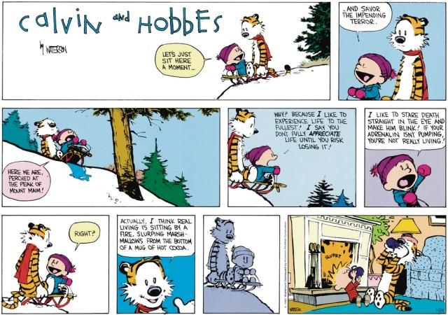 Calvin Really Living