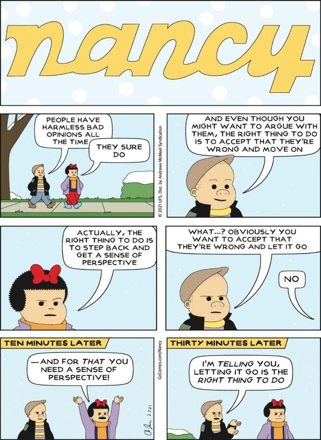 Nancy on Disagreements
