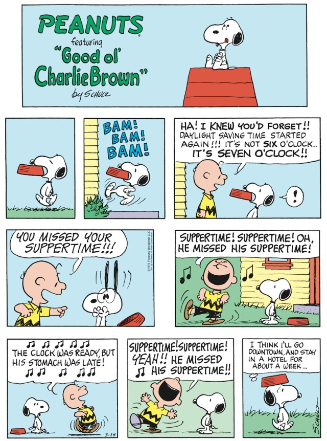 Peanuts Daylight Savings